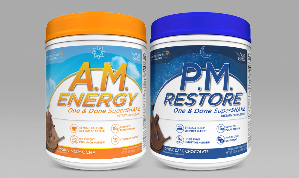 Protein blends custom packaging design