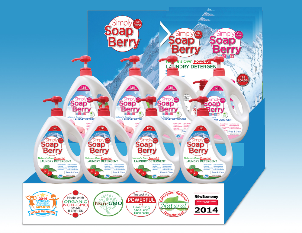 laundry detergent display standee design
