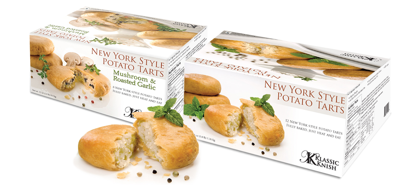 Potato Tarts Packaging Design & Food Photography