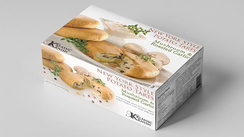potato tarts food packaging design and printing