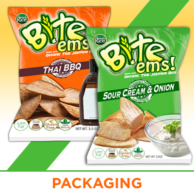 Branding Rice Thins Custom Packaging Design