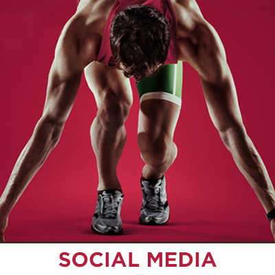 Social media sporty lifestyle marketing campaign images