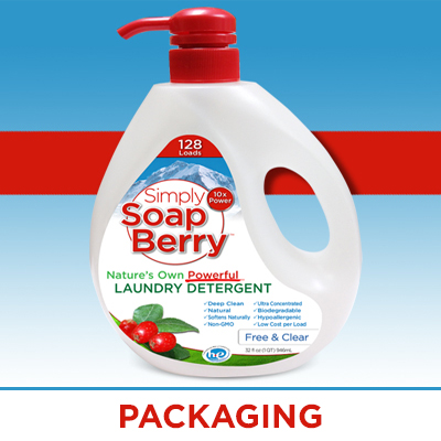 laundry detergent custom packaging design