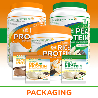 Plant Protein custom packaging design