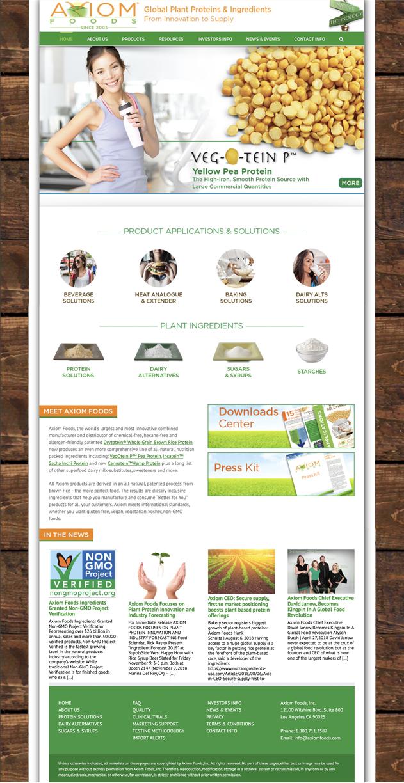 Plant Protein & Food Ingredients WordPress Website Design & Programming