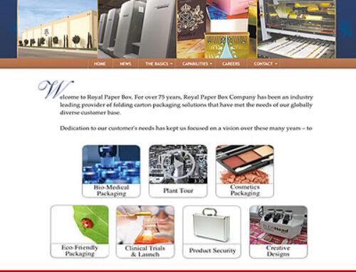 Folding Carton Packaging Company Website Design & Programming