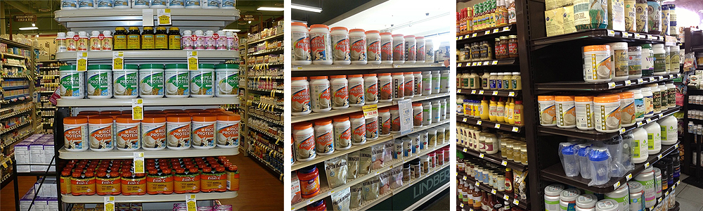 CAS Production-design Protein packaging on store shelves