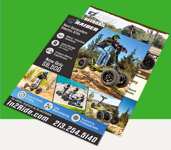 Vehicle Flyers and Brochures Print Design