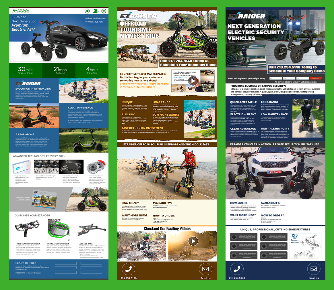 Web Strategy: Targeted Landing Pages Design & Programming