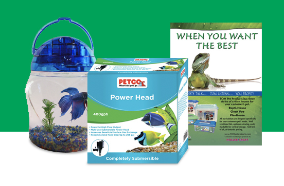 Petco pet & aquarium packaging design and rebranding