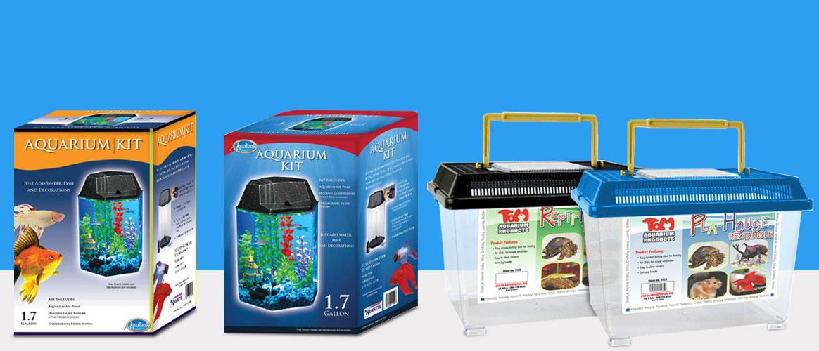 Reptile & Fish Housing Brand Extensions: Custom Packaging Design