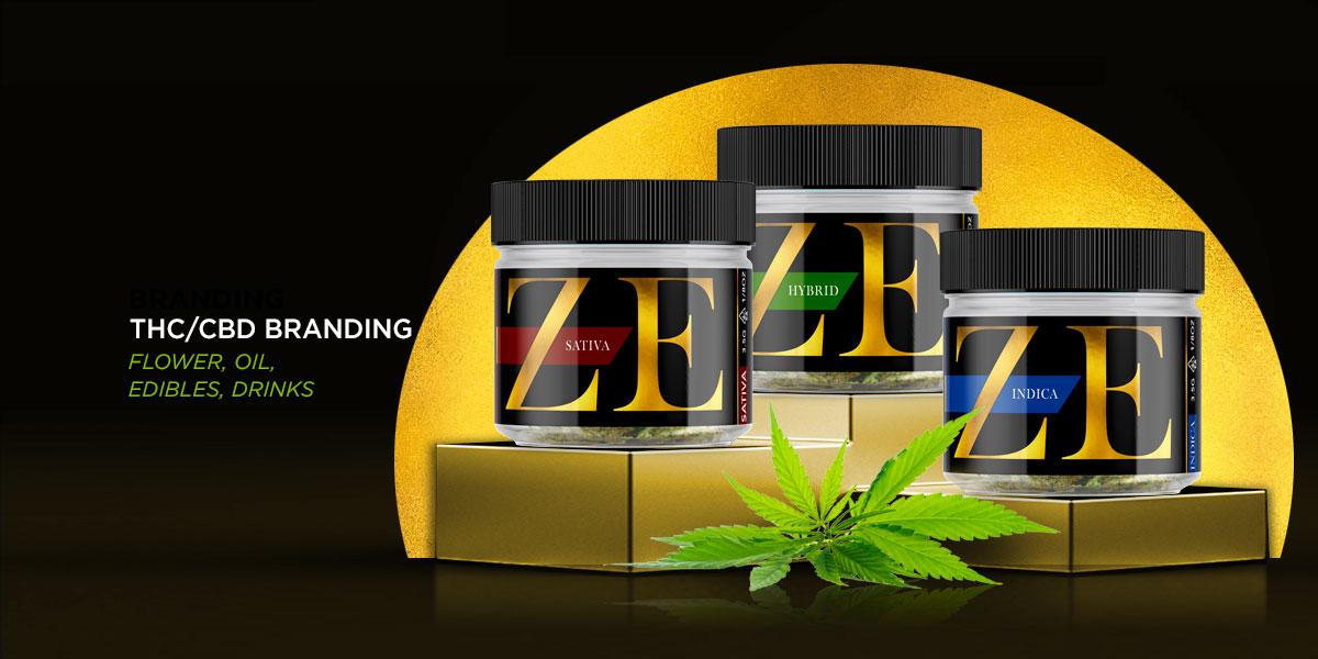 Marijuana, CBD & THC Smokable Flower Packaging Design and Branding