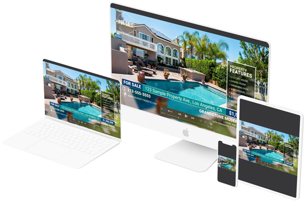 Responsive real estate videos