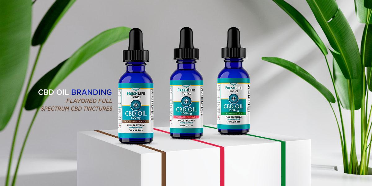 CBD THC Oil Full psectrum label packaging design