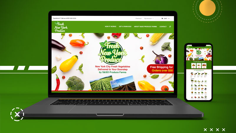 Fresh New York Produce - Ecommerce Website