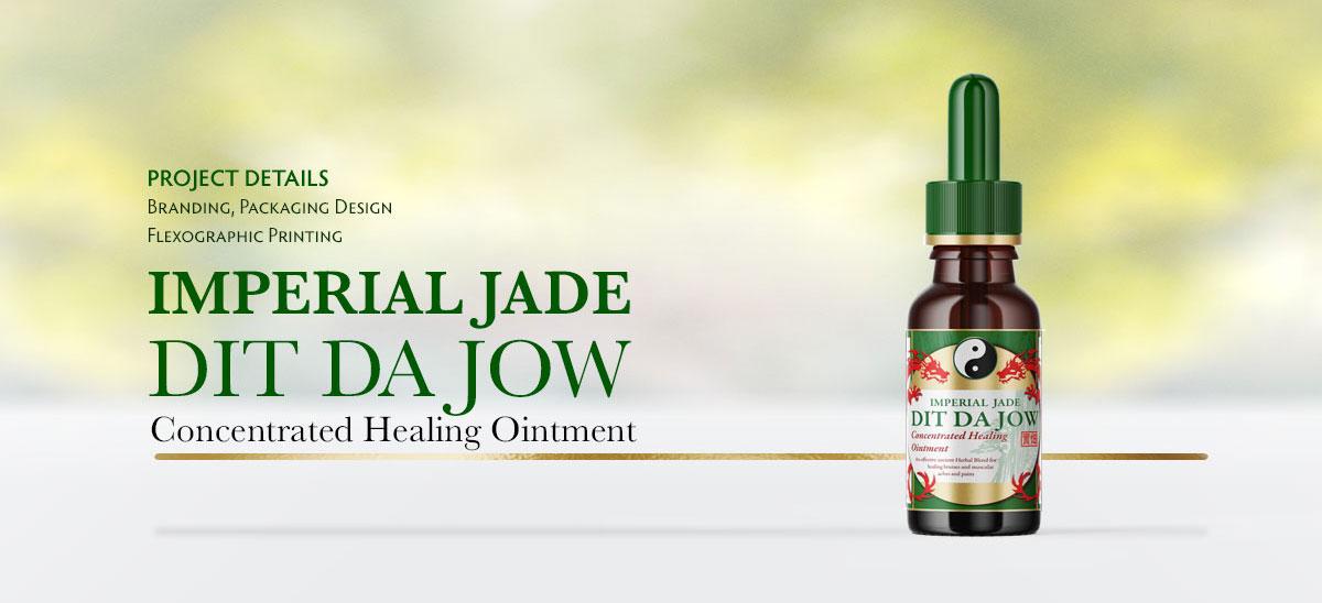 Dit Da Jow - Healing Ointment Bottle Label Design