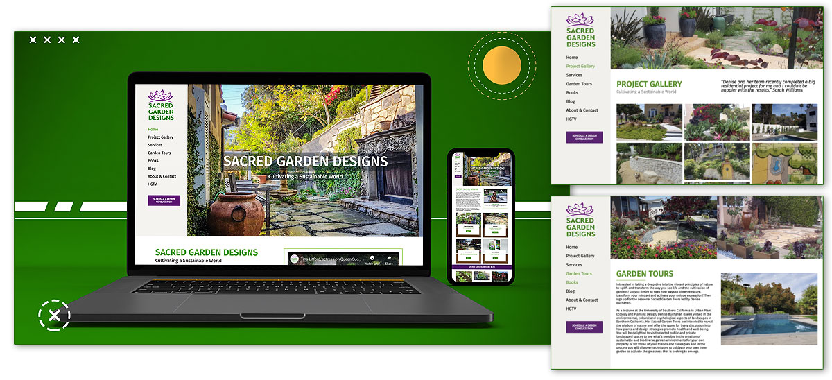 Landscape & Garden Design Website Development