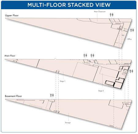 Multi-floor stacked floorplans view